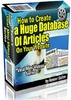 How To Create A Huge Data Of Articles On Your Website